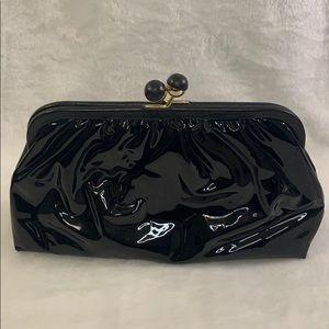Vintage Margolm Black and Gold Clutch Shoulder Bag